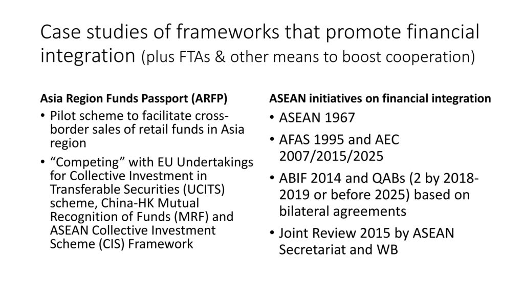 Barriers to entry and financial integration in Asia and RCEP