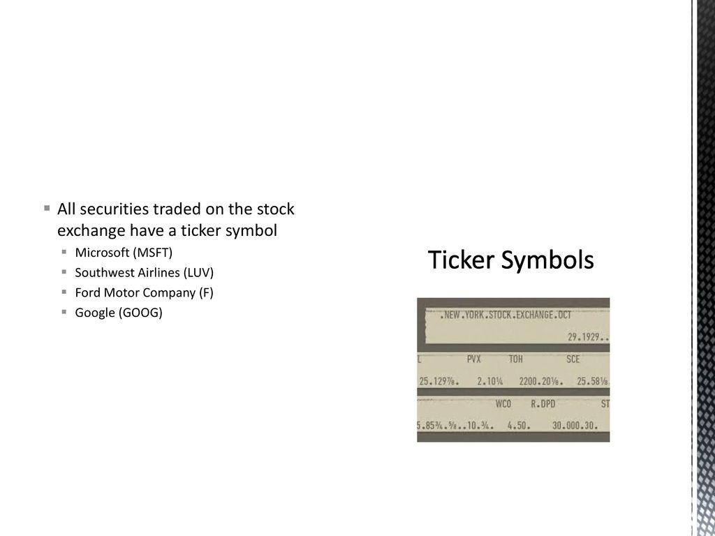 Stock Market Basics Ppt Download