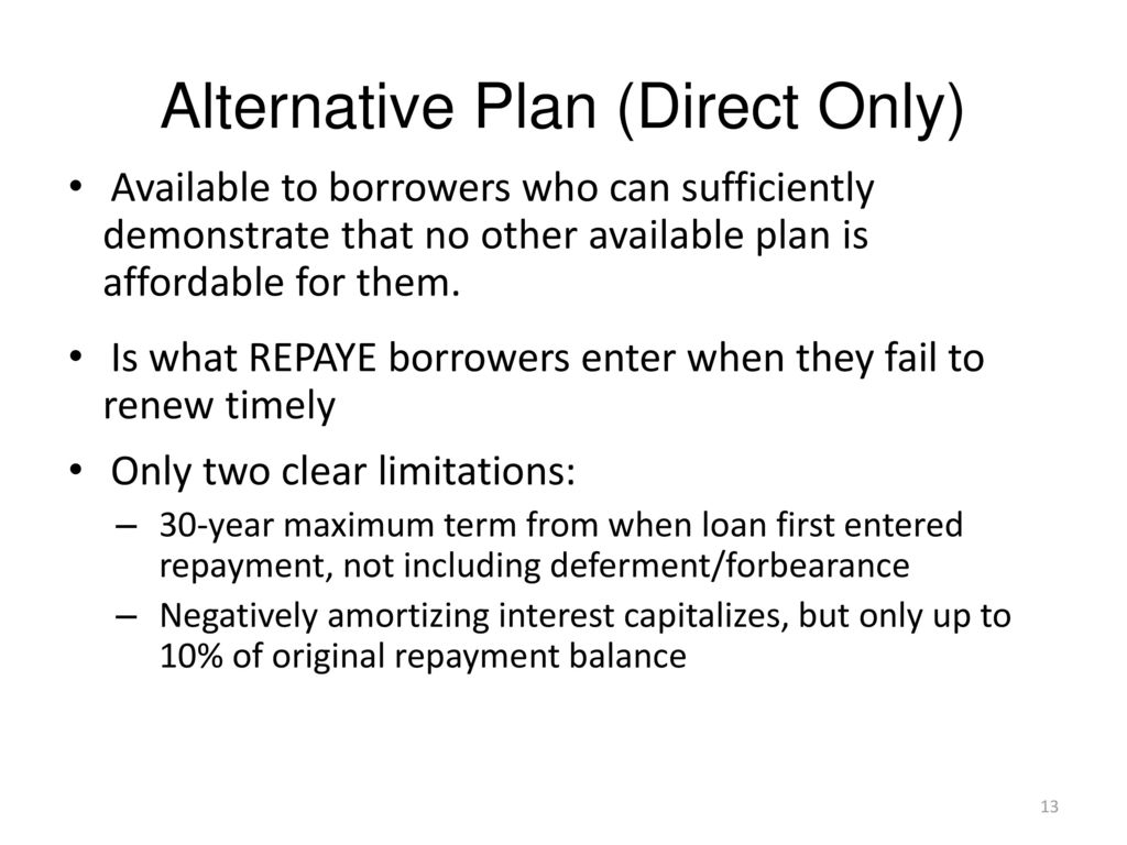 Repayment Plans Facts Myths And The Income Driven Muddle Ppt