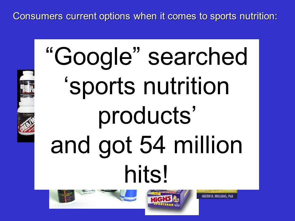 'sports nutrition products'