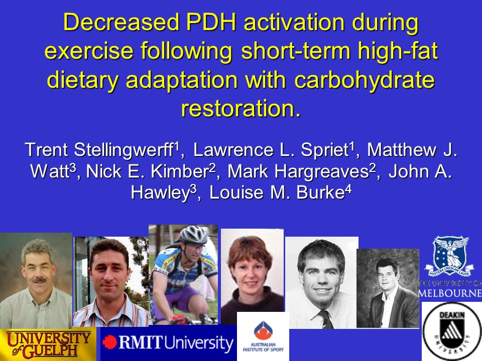 Decreased PDH activation during exercise following short-term high-fat dietary adaptation with carbohydrate restoration.