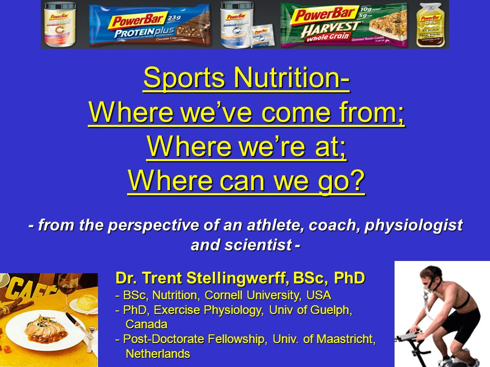 Sports Nutrition- Where we've come from; Where we're at;