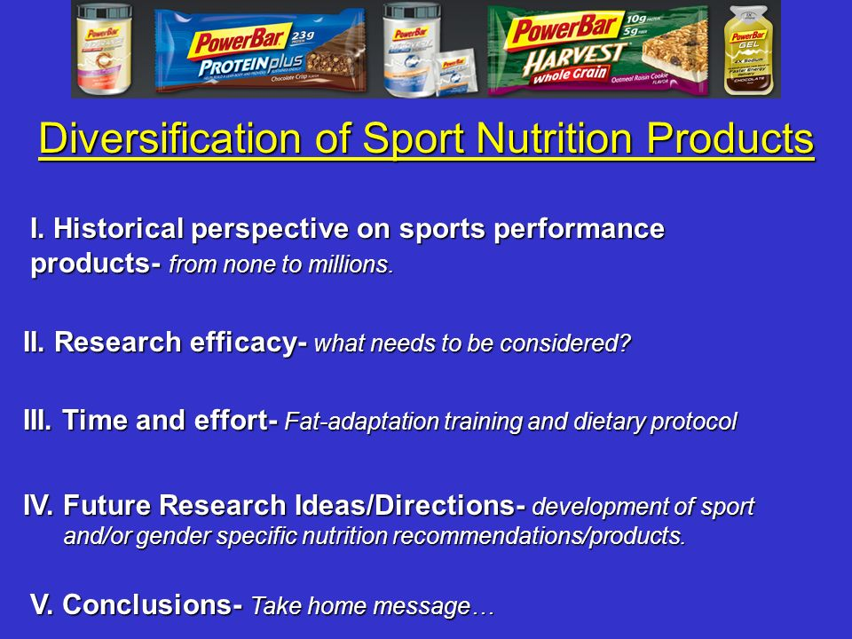 Diversification of Sport Nutrition Products