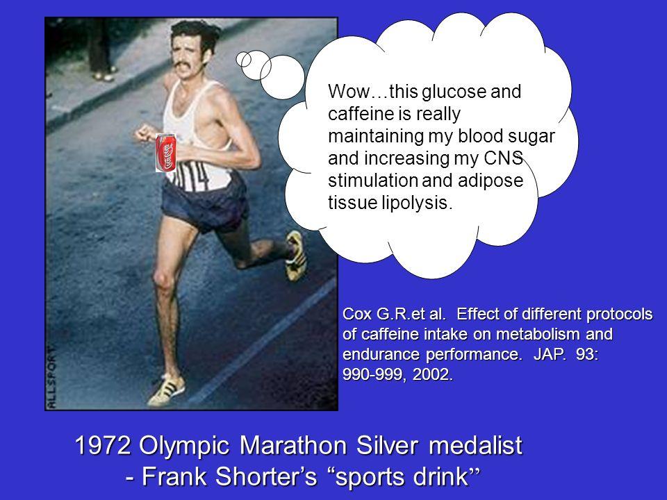 1972 Olympic Marathon Silver medalist - Frank Shorter's sports drink