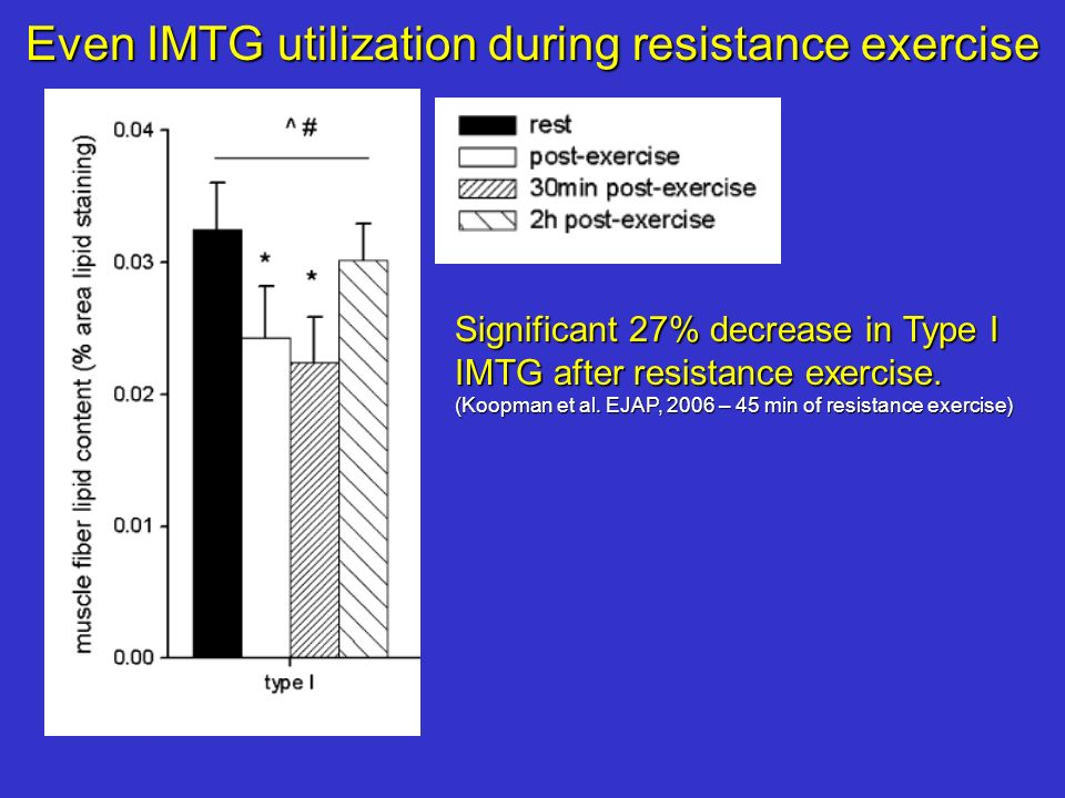Even IMTG utilization during resistance exercise
