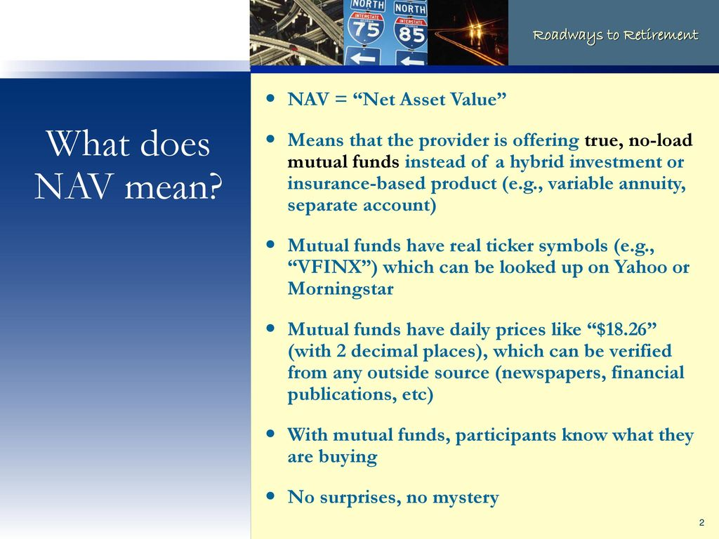 Net Asset Value Versus Everything Else Ppt Download