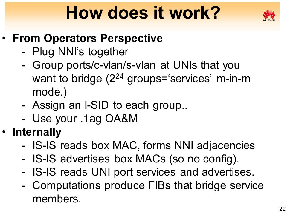 How does it work From Operators Perspective Plug NNI's together