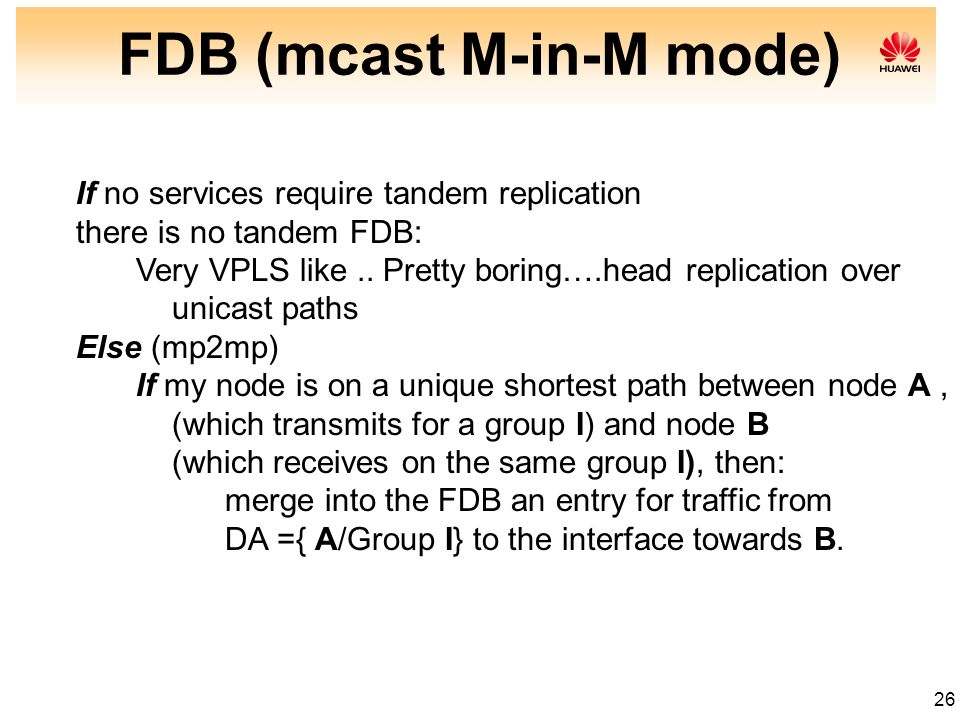 FDB (mcast M-in-M mode)