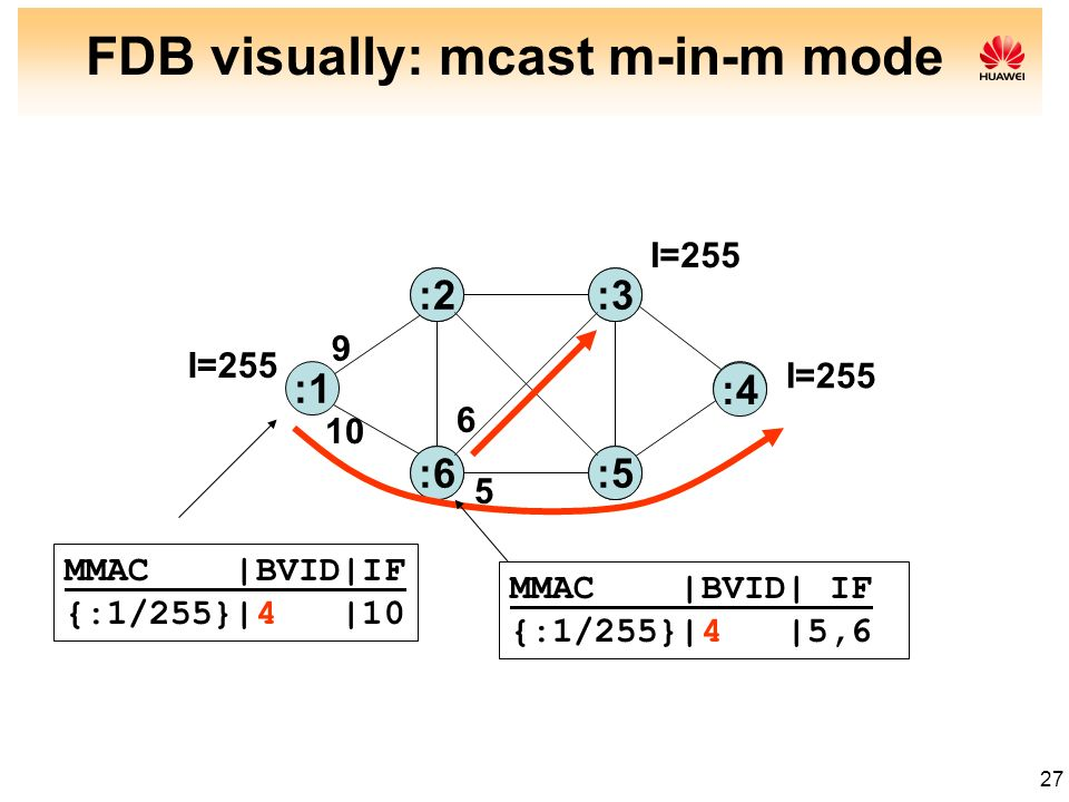FDB visually: mcast m-in-m mode