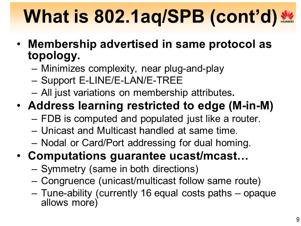 What is 802.1aq/SPB (cont'd)