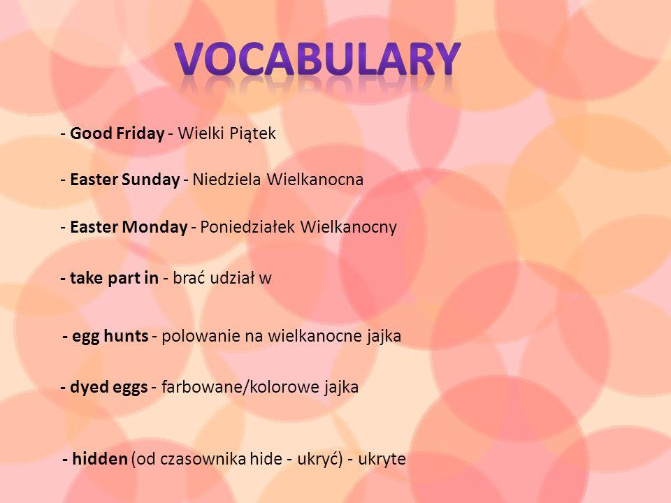 Vocabulary - Good Friday - Wielki Piątek