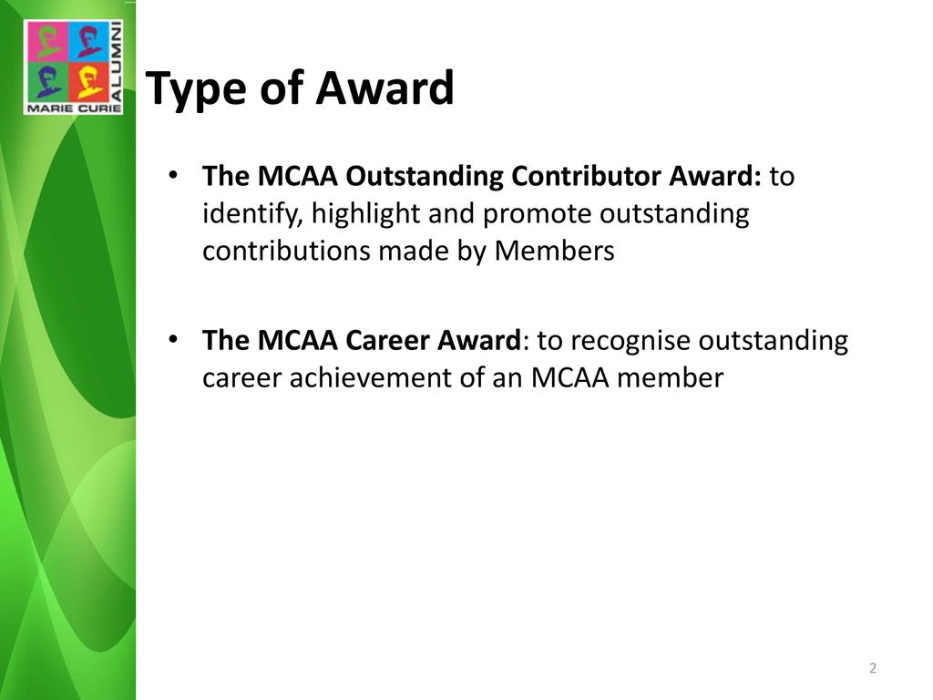 outstanding contribution award
