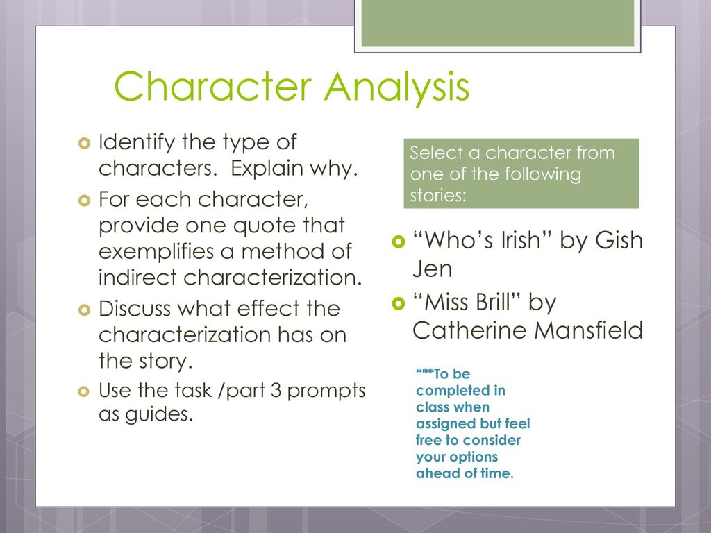 miss brill character analysis