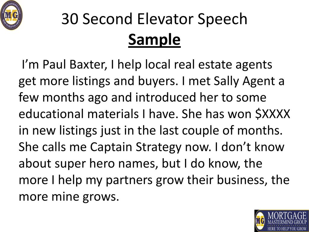 how to write a 30 second elevator pitch - Kubre.euforic.co