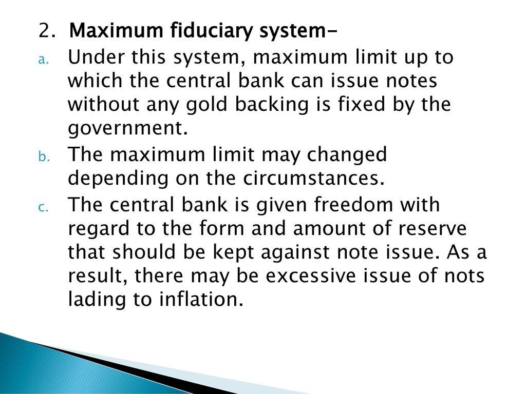 fixed fiduciary system