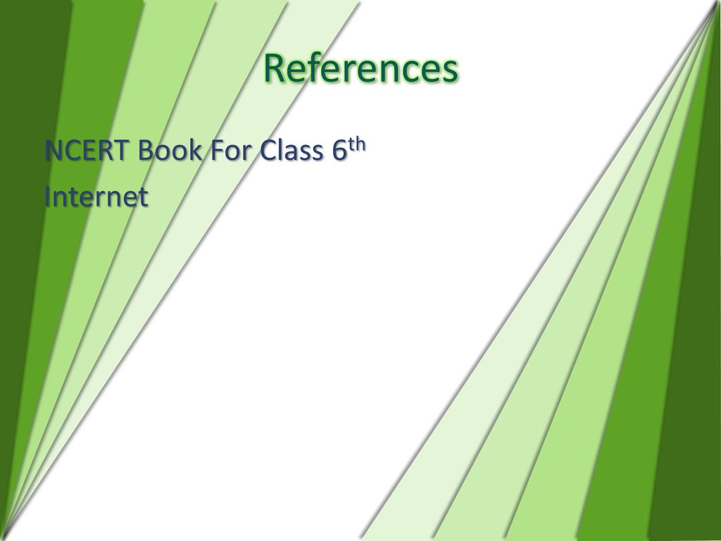 References NCERT Book For Class 6th Internet