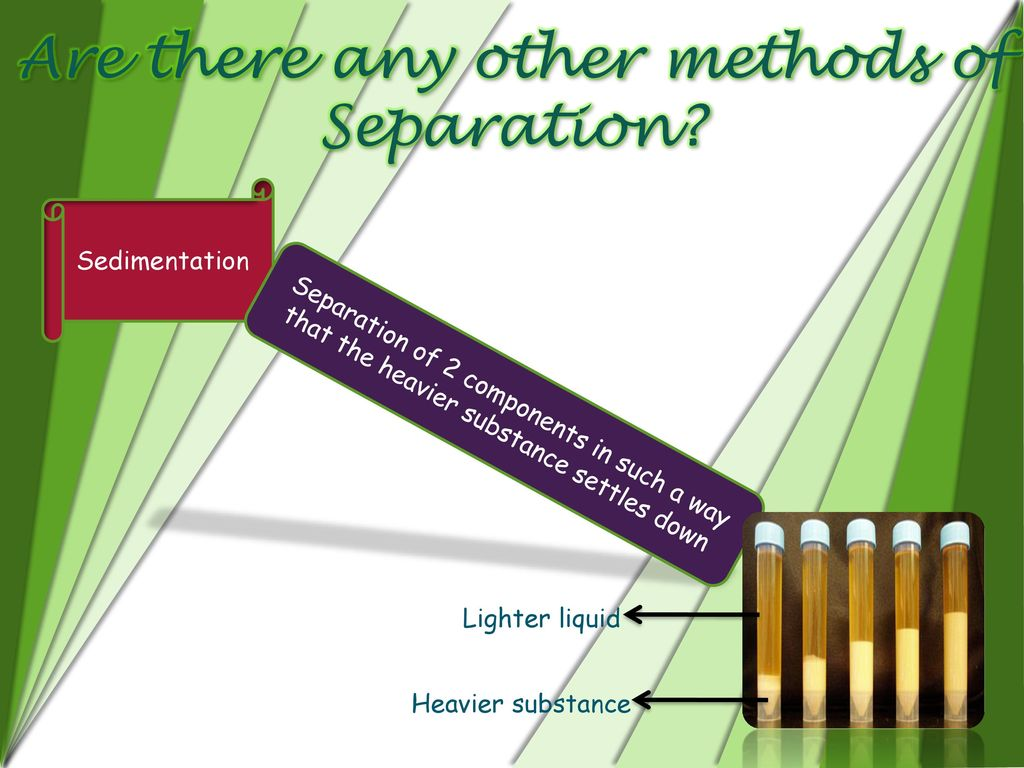 Are there any other methods of Separation