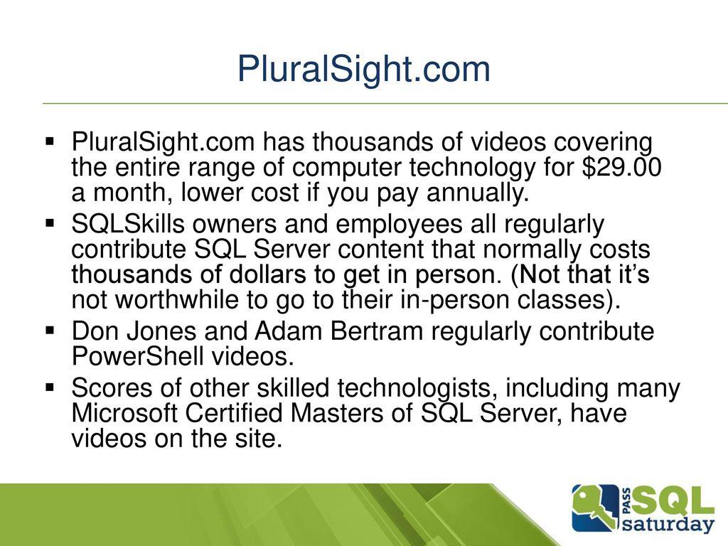Dorable Pluralsight Resume Development For Technical Professionals