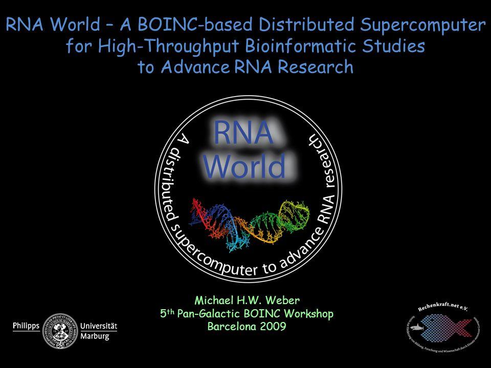 5th Pan-Galactic BOINC Workshop