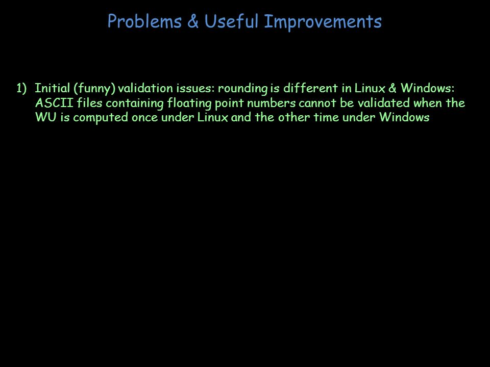 Problems & Useful Improvements