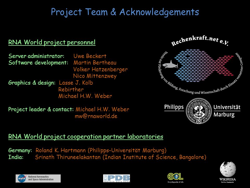 Project Team & Acknowledgements