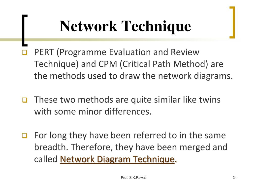 Project management prof skrawat ppt download network technique pert programme evaluation and review technique and cpm critical path method ccuart Image collections