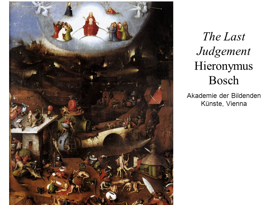 The Last Judgement Hieronymus Bosch