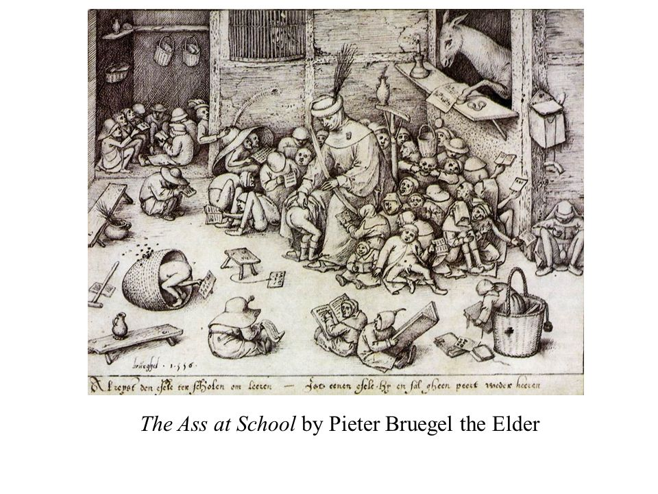 The Ass at School by Pieter Bruegel the Elder