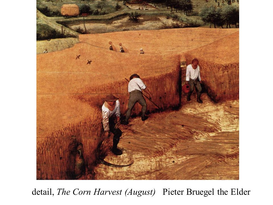 detail, The Corn Harvest (August) Pieter Bruegel the Elder