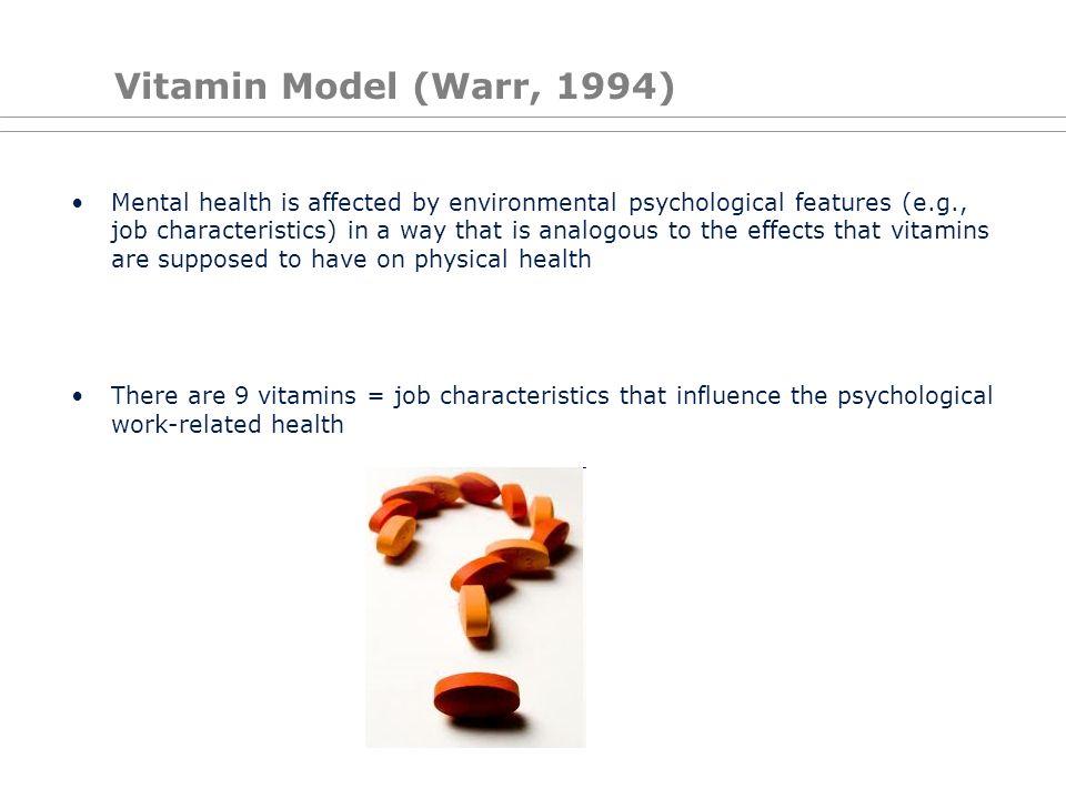 Vitamin Model (Warr, 1994)