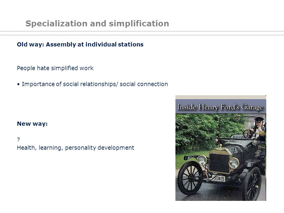 Specialization and simplification