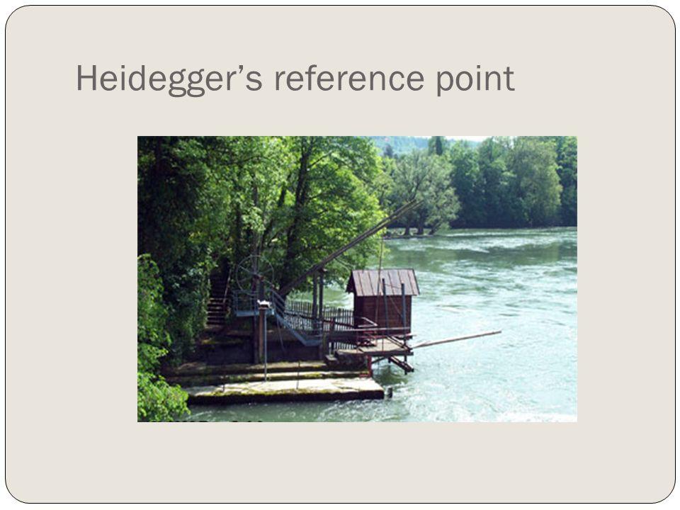 Heidegger's reference point