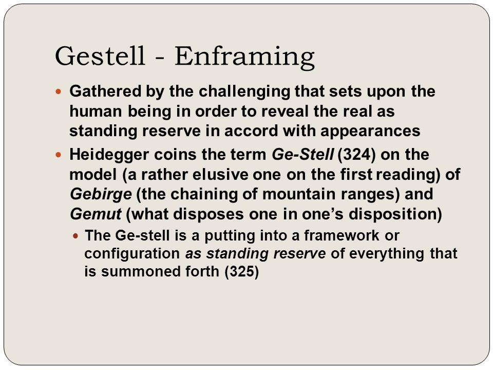 Gestell - Enframing