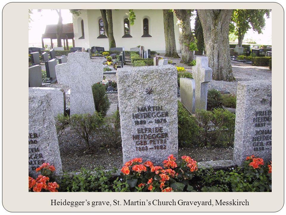 Heidegger's grave, St. Martin's Church Graveyard, Messkirch