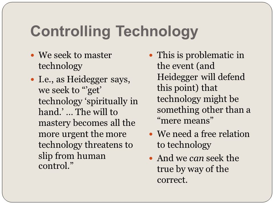 Controlling Technology