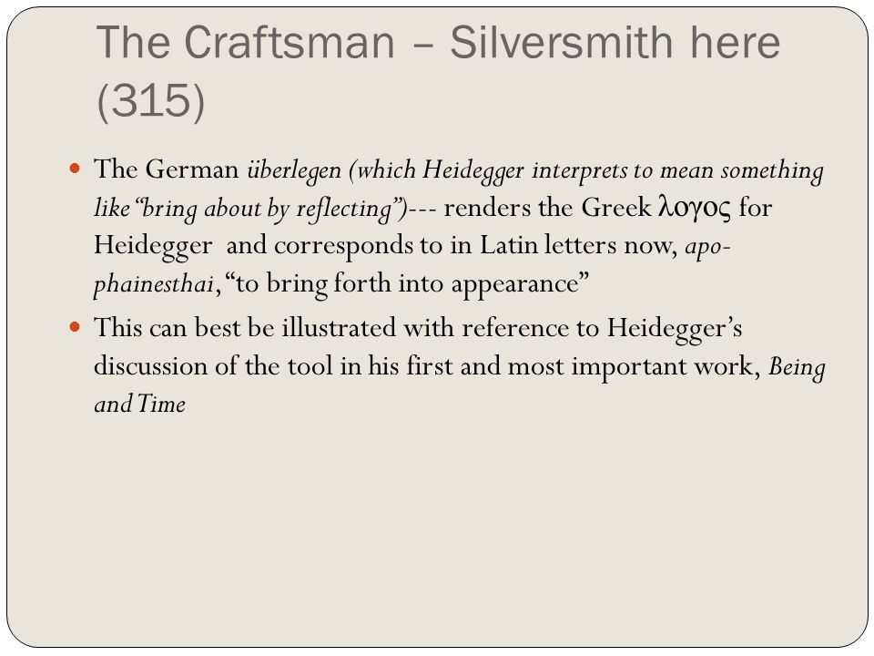 The Craftsman – Silversmith here (315)