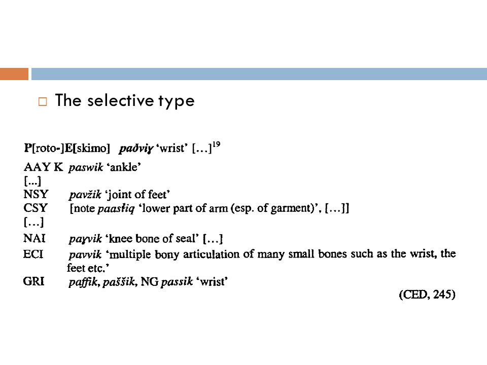 The selective type