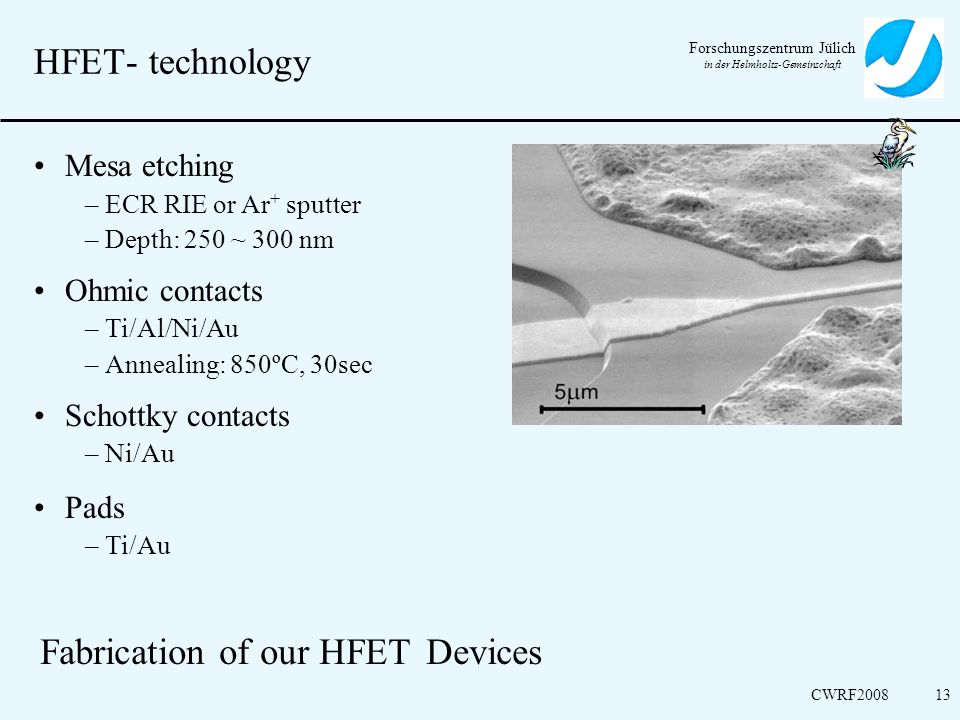 Fabrication of our HFET Devices