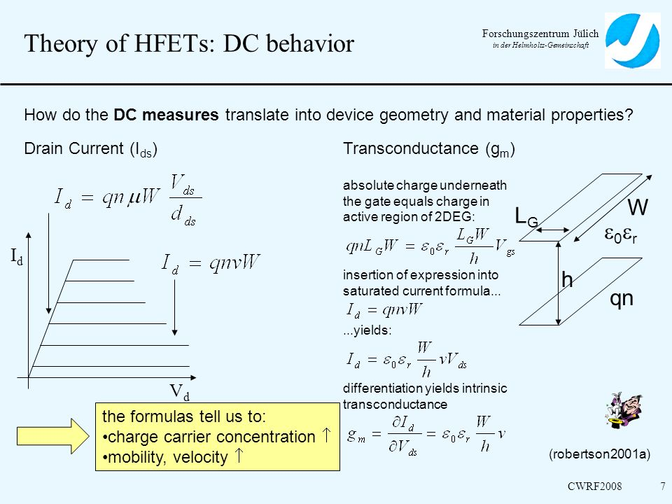 Theory of HFETs: DC behavior