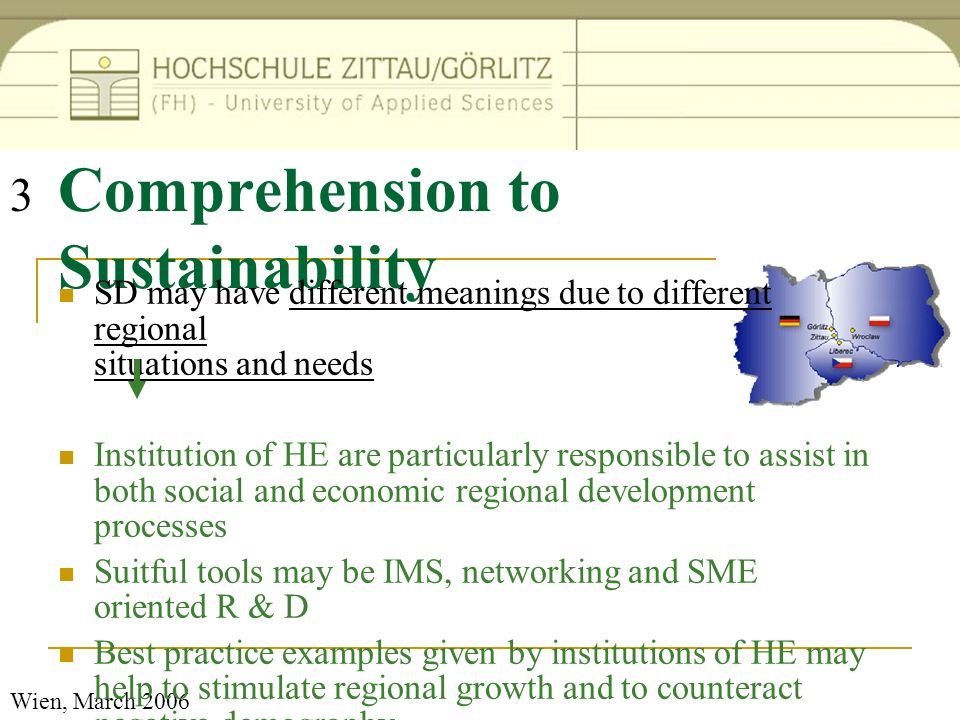 Comprehension to Sustainability