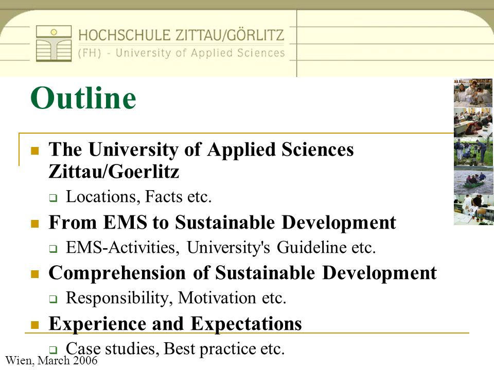 Outline The University of Applied Sciences Zittau/Goerlitz