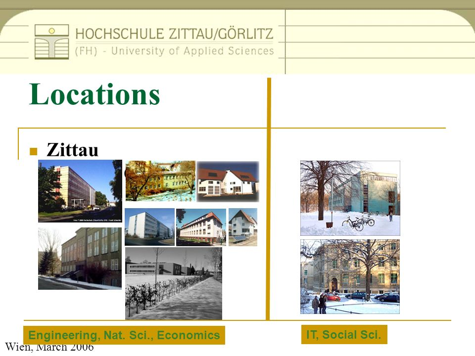 Locations Zittau Goerlitz Engineering, Nat. Sci., Economics