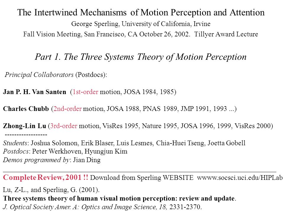 The Intertwined Mechanisms of Motion Perception and Attention