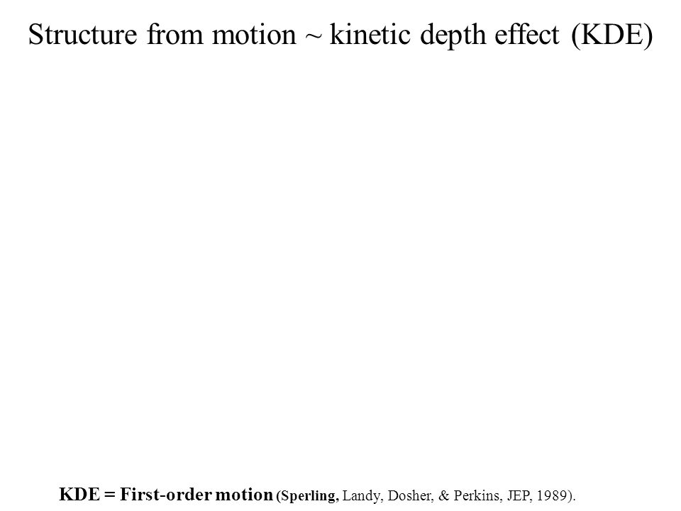 Structure from motion ~ kinetic depth effect (KDE)