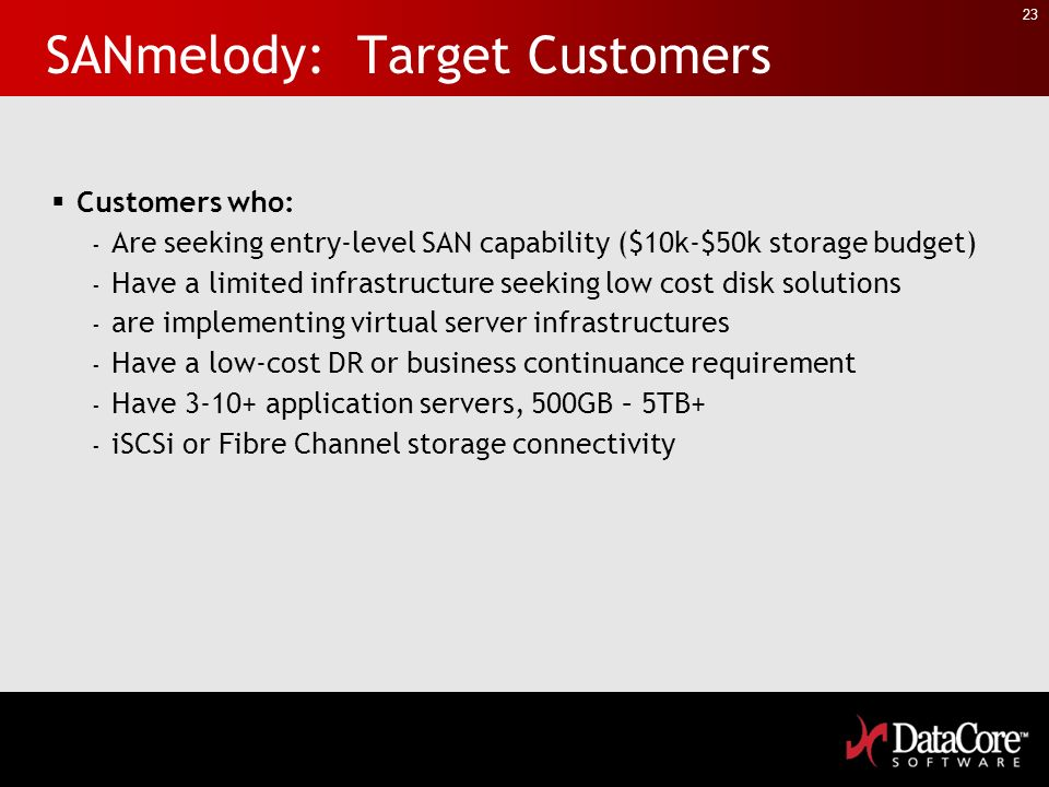 SANmelody: Target Customers