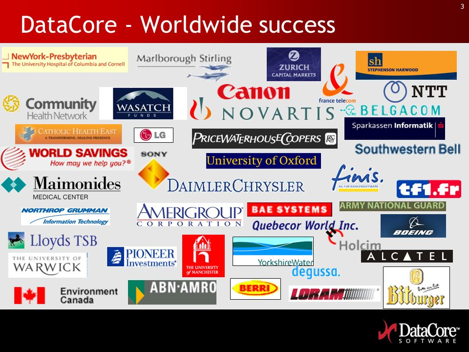 DataCore - Worldwide success
