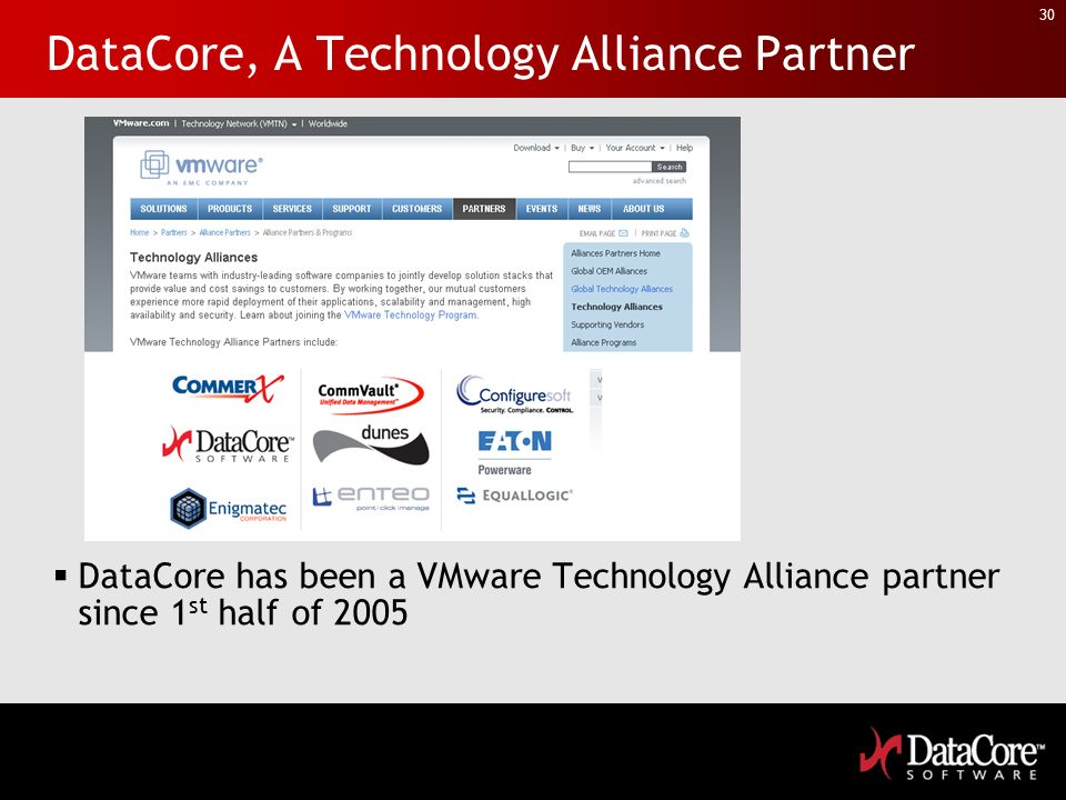 DataCore, A Technology Alliance Partner