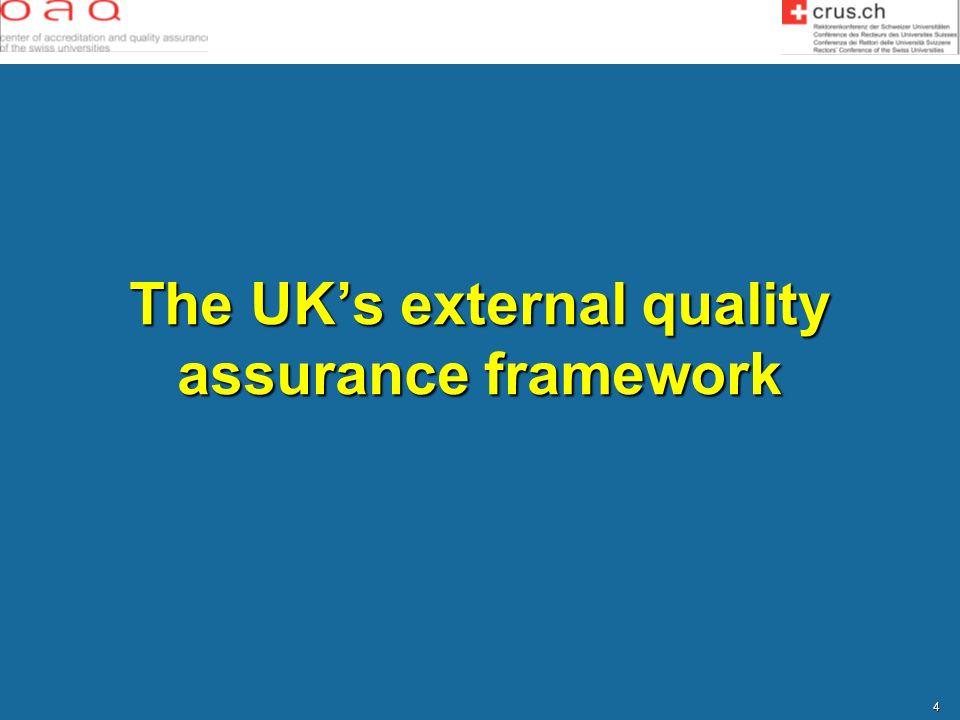The UK's external quality assurance framework