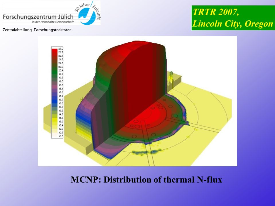 MCNP: Distribution of thermal N-flux