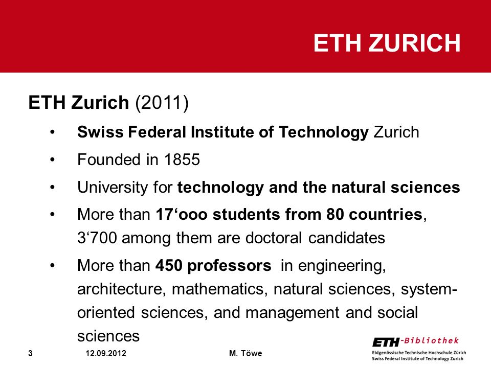 ETH Zurich ETH Zurich (2011)